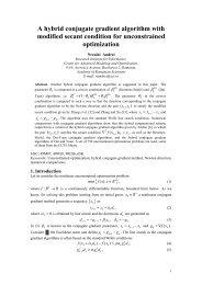 A hybrid conjugate gradient algorithm with modified secant ... - camo