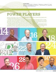 Special Section: Power Players - Engineering & Science