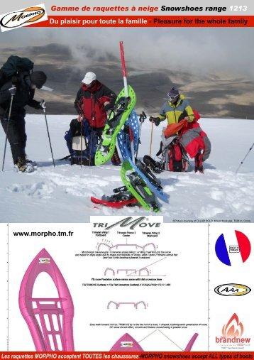 Gamme de raquettes à neige-Snowshoes range 1213 Du ... - Morpho