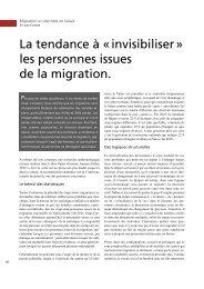 La tendance à «invisibiliser» les personnes issues de ... - terra cognita