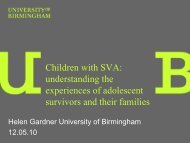 understanding the experiences of adolescent survivors and ... - RCN