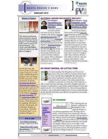 KC KORNER SO MANY BOOKS, SO LITTLE TIME - NASPA