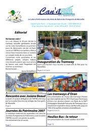 Editorial Inauguration du Tramway Les tramways d'Oran ... - ARTM