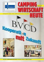 Absender: CAMPINGWIRTSCHAFT HEUTE · Potsdamer Straße 3