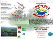DIN A3 Flyer Camping Park Weiherhof