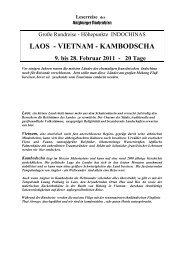 LAOS - VIETNAM - KAMBODSCHA 9. bis 28. Februar 2011
