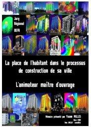 La place de l'habitant dans le processus de construction de sa ville ...