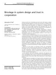 Bricolage in system design and trust in cooperation - LSE