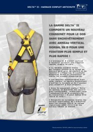 la gamme delta™ ii comporte un nouveau coussinet ... - Capital Safety