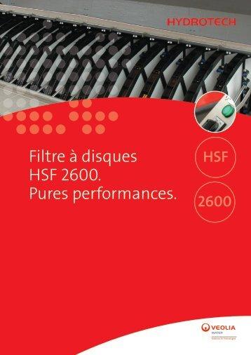 Filtre à disques HSF 2600. Pures performances. - Veolia Eau