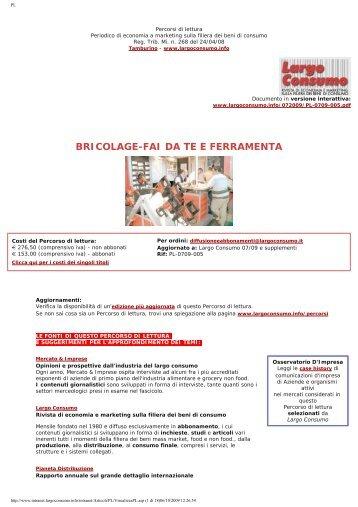 Mercato Italia Bricolage-Fai da te e Ferramenta ... - Largo Consumo
