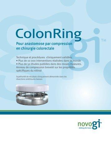 Pour anastomose par compression en chirurgie colorectale