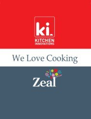 Page 1 Page 2 About Kitchen Innovations Inc. Kitchen Innovations ...