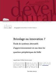 Bricolage ou innovation ?