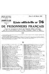 liste officielle 38 de prisonniers français 08 11 1940