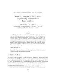 Sensitivity analysis for fuzzy linear programming problems ... - camo