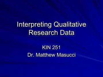 Interpreting Qualitative Research Data