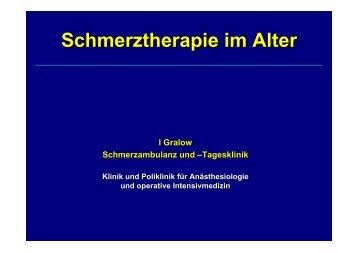 Schmerztherapie im Alter