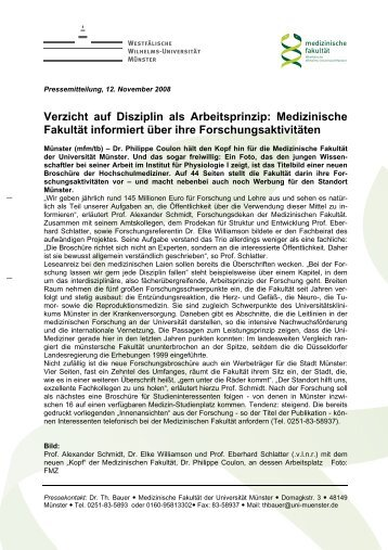 Verzicht auf Disziplin als Arbeitsprinzip - bei der Medizinischen ...