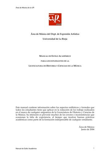 Manual de estilo (en pdf) - Campus Virtual de la Universidad de La ...