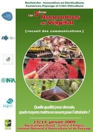 Recueil des communications - Rencontres du Végétal - Agrocampus ...