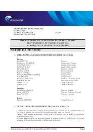 Bureau exécutif du 01 et 02 mars 2013 - abcNatation