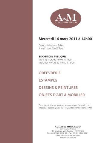 Télécharger le PDF de la vente du 16 Mars 2011 - Audap-Mirabaud