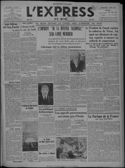 DIMANCHE 7 MARS 1937 somm