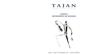 JUDAICA - INSTRUMENTS DE MUSIQUE - Tajan