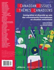 Immigration et diversité au sein des communautés francophones en ...