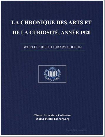 la chronique des arts et de la curiosité, année 1920 - World eBook ...
