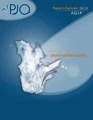 Rapport d'activités 2009-2010 - Parlement jeunesse du Québec