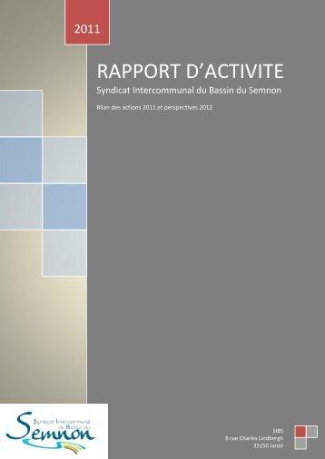 Rapport d'activité 2011.pdf - Syndicat Intercommunal du Bassin du ...