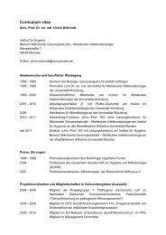 Curriculum vitae - Universität Münster