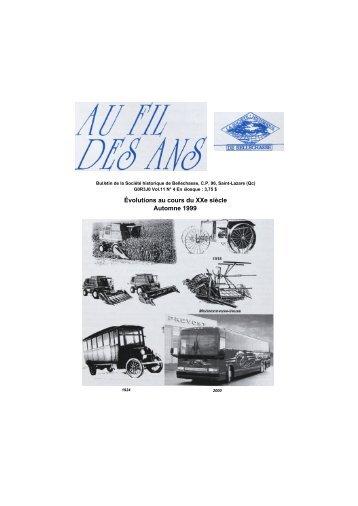 No. 4 Automne - Société historique de Bellechasse