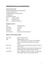 1 CURRICULUM VITAE: Dr. med. univ. Adelheid Korb-Pap Adelheid ...