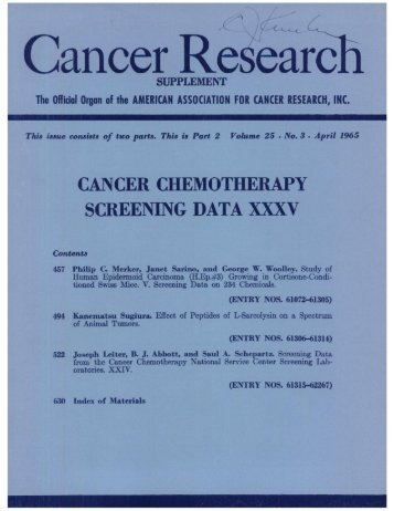 TOC (PDF) - Cancer Research