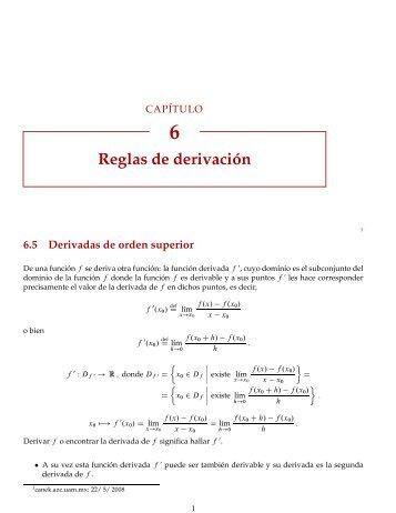 Reglas de derivación - Canek - UAM