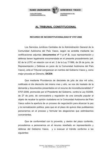 AL TRIBUNAL CONSTITUCIONAL - El Diario Vasco