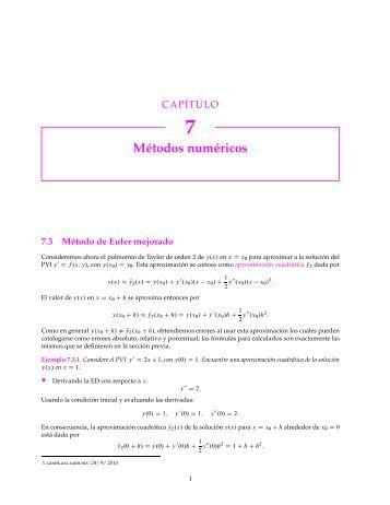 Métodos numéricos - Canek - UAM