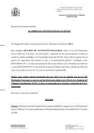 Recurso del Gobierno - Diario Vasco