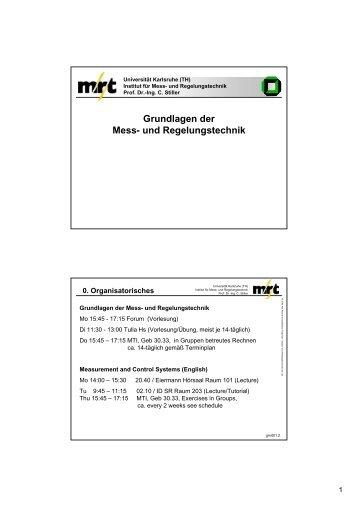 Grundlagen der Mess- und Regelungstechnik