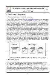 Mechatronika, Optika és Gépészeti Informatika Tanszék SERVO ...