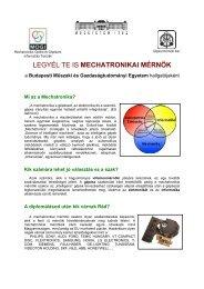 A szak rövid ismertetõjének letöltése (pdf, 220 KB) - Budapesti ...
