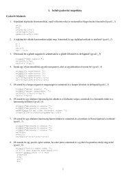 1 1. Scilab gyakorlat megoldása 3. Olvassuk be a gömb sugarát és ...