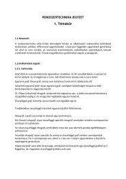 RENDSZERTECHNIKA JEGYZET 1. Témakör