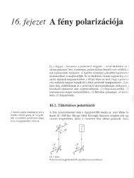 16. fejezet A fény polarizácíója