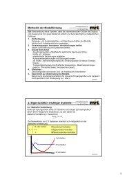 Methodik der Modellbildung 3. Eigenschaften wichtiger Systeme
