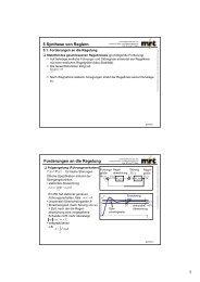 5 Synthese von Reglern ∫ Forderungen an die Regelung