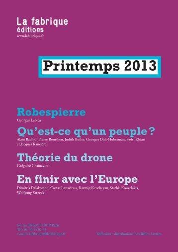 Printemps 2013 - La Fabrique
